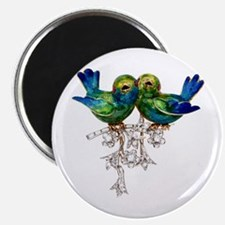 Lovebirds Love Birds Vintage Costume Magnets