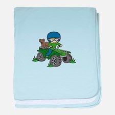Quad Driving baby blanket