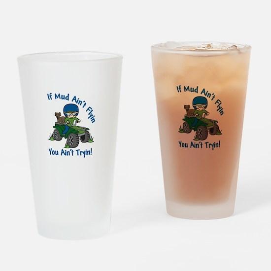 Flyin Mud Drinking Glass