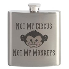 Not My Circus, Not My Monkeys (Cute) Flask