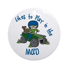 Play in the Mud Ornament (Round)