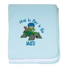 Play in the Mud baby blanket