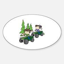 Kids Riding ATVs Decal