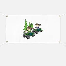 Kids Riding ATVs Banner