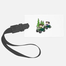 Kids Riding ATVs Luggage Tag