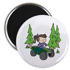 Girl Riding ATV Magnets