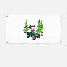 Girl Riding ATV Banner