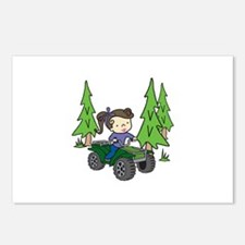 Girl Riding ATV Postcards (Package of 8)