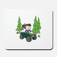 Girl Riding ATV Mousepad