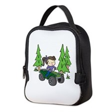 Girl Riding ATV Neoprene Lunch Bag