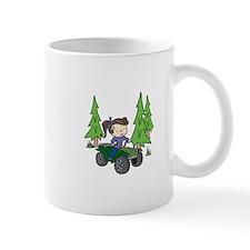 Girl Riding ATV Mugs