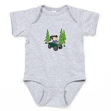 Girl Riding ATV Baby Bodysuit