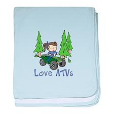 Love ATVs baby blanket