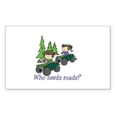 Who Needs Roads? Decal