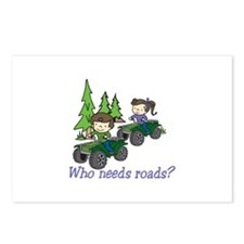 Who Needs Roads? Postcards (Package of 8)