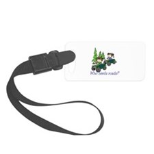 Who Needs Roads? Luggage Tag