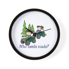 Who Needs Roads? Wall Clock
