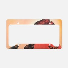 color me orange License Plate Holder