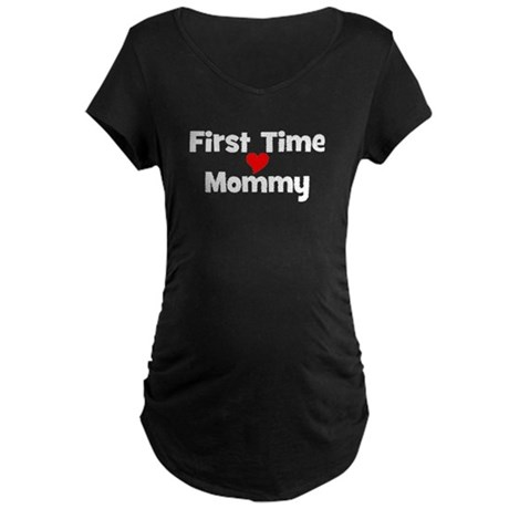 First Time Mommy Maternity Dark T-Shirt