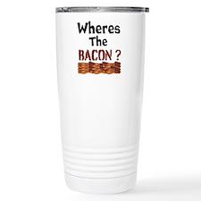 Wheres The Bacon Travel Mug