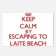 Keep calm by escaping to Laite Beach Maine Postcar