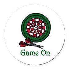 Game On Round Car Magnet