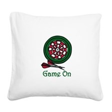 Game On Square Canvas Pillow