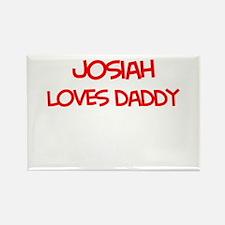 Josiah Loves Daddy Rectangle Magnet