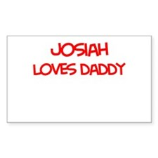 Josiah Loves Daddy Rectangle Decal