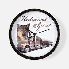 Untamed Spirit Wall Clock
