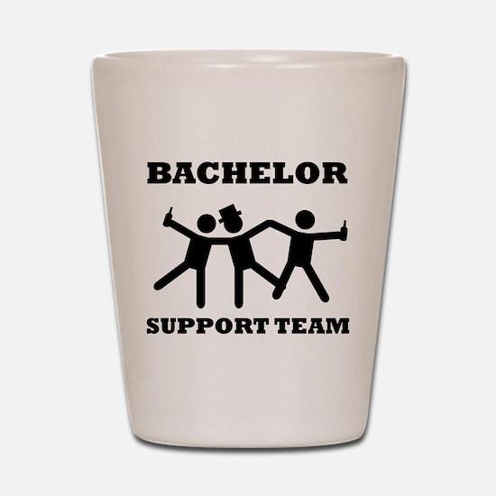 Bachelor Support Team Shot Glass