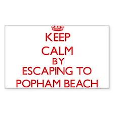 Keep calm by escaping to Popham Beach Maine Sticke