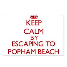 Keep calm by escaping to Popham Beach Maine Postca