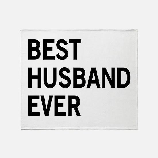 Best Husband Ever Throw Blanket