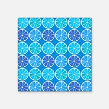 Blue citrus pattern Sticker