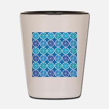 Blue citrus pattern Shot Glass