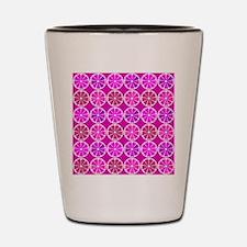 Fuchsia citrus pattern Shot Glass