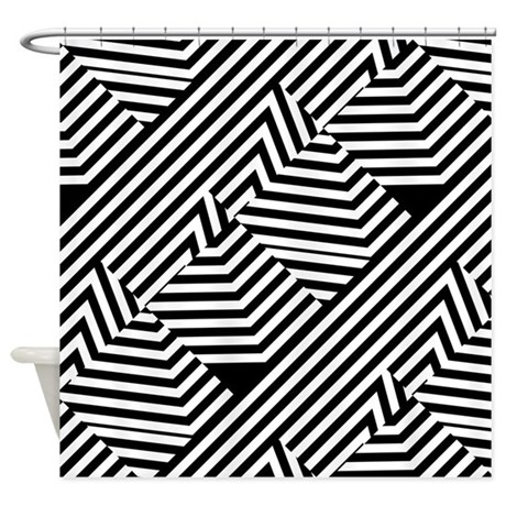 graphic_black_and_white_stripes_shower_curtain.jpg?color=White&height ...