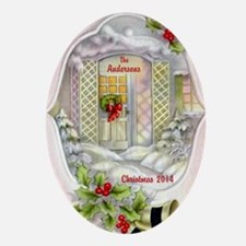 Personalized Family Christmas Ornament (oval)