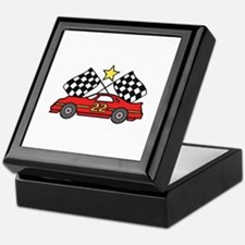 Checkered Flags Car Keepsake Box