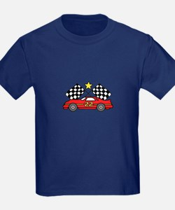 Checkered Flags Car T-Shirt