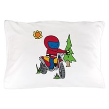Boy Motorcycle Rider Pillow Case