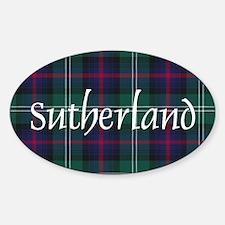 Tartan - Sutherland Sticker (Oval)