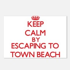 Keep calm by escaping to Town Beach Maine Postcard