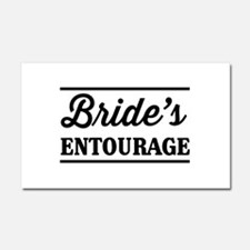 Brides Entourage Car Magnet 20 x 12