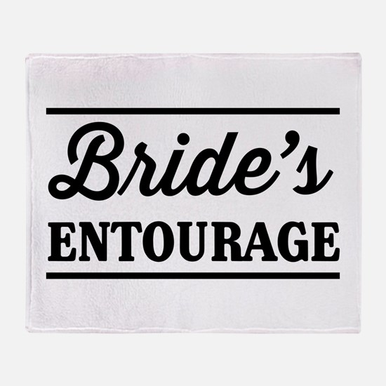 Brides Entourage Throw Blanket