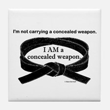 Concealed Weapon Tile Coaster