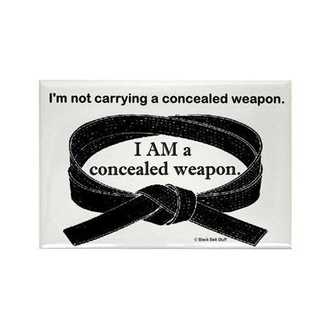 Concealed Weapon Rectangle Magnet