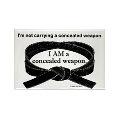 Concealed Weapon Rectangle Magnet (100 pack)