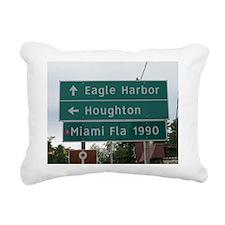 Miami, Fl sign Rectangular Canvas Pillow